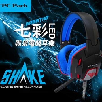 PC Park V70(黑藍)戰狼電競耳機麥克風(福利品出清)