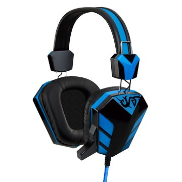 E-books S28(藍)電競音控頭戴耳機麥克風
