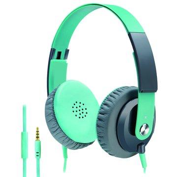 E-books S15(綠)線控接聽頭戴耳機麥克風(福利品出清)