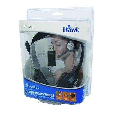 Hawk 鵰族 W599 2.4G無線頭戴式耳機麥克風(福利品出清)