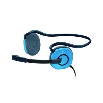 Logitech 羅技 H130(藍)頭戴式耳機麥克風 (福利品出清)