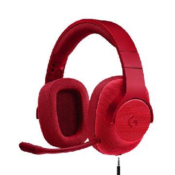 Logitech G433 7.1聲道有線遊戲耳麥-火焰紅