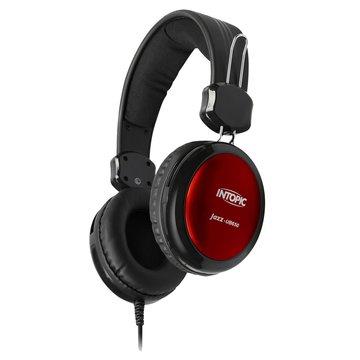 INTOPIC 廣鼎JAZZ-UB650(紅)USB頭戴式耳機麥克風