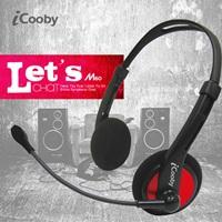 iCooby M60(黑紅)後掛式耳機麥克風