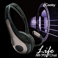 iCooby M70(黑灰)頭戴式耳機麥克風