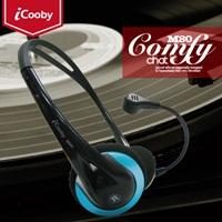 iCooby M80(黑藍)頭戴式耳機麥克風