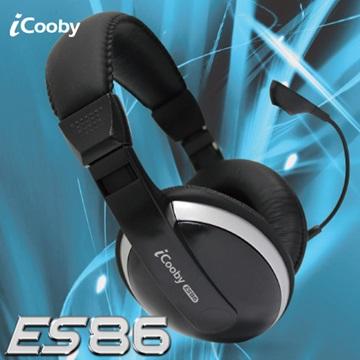 iCooby ES86(黑灰)頭戴式耳機麥克風