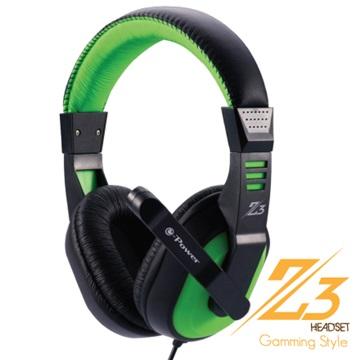 e-Power  Z3(綠)遊戲行耳機麥克風(福利品出清)