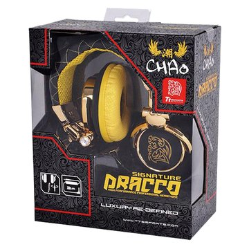 Thermaltake 曜越CHAO潮傳奇DRACCO(黑)電競耳機署名款(福利品出清)