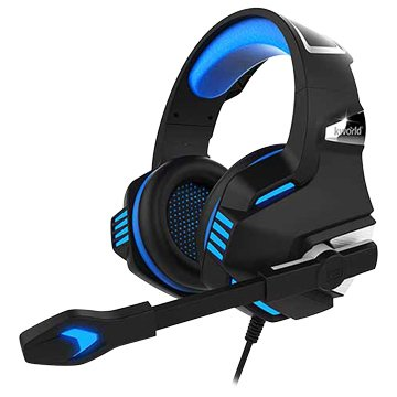 KWORLD K7000 (黑藍)電競耳機麥克風