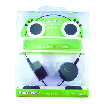 ANDY愛MAY MAY 安迪愛美眉 AM-207輕量型(黑)頭戴式耳機(福利品出清)