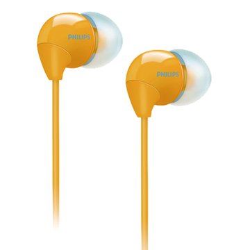 PHILIPS 飛利浦 SHE3590(黃)耳道式耳機(福利品出清)