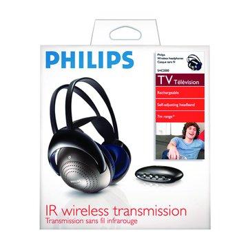 PHILIPS 飛利浦 SHC2000紅外線無線耳機(福利品出清)