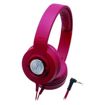 audio-technica 鐵三角 WS33X RD(紅)攜帶式耳機(福利品出清)