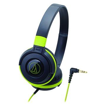 audio-technica 鐵三角S100 BGR(黑綠)攜帶頭戴式耳機