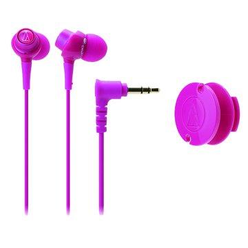 audio-technica 鐵三角CKL203 PK(粉紅)耳塞式耳機(福利品出清)