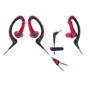 audio-technica 鐵三角SPORT1 RD(紅)耳掛耳塞式運動耳機