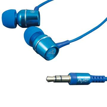avier 炫彩鋁合金(藍)入耳式耳機