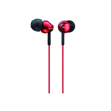 SONY 新力牌 MDR-EX110LP-R(紅)入耳式耳機(福利品出清)