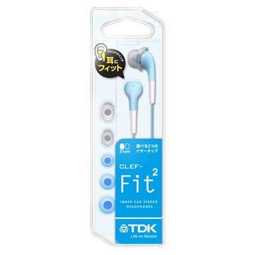 TDK FIT2(淺藍)耳塞式耳機