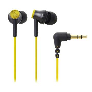 audio-technica 鐵三角CK330M(黑黃)入耳式耳機