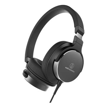 audio-technica 鐵三角SR5 BK(黑)便攜型耳罩式耳機