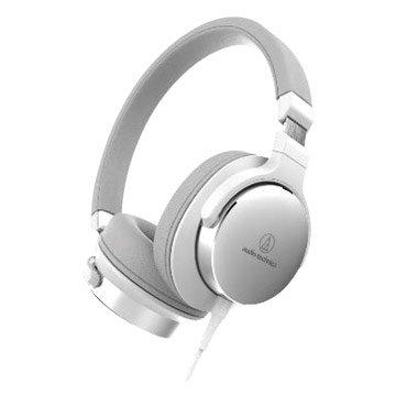 audio-technica 鐵三角SR5 NBW(白)便攜型耳罩式耳機