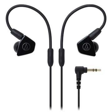 audio-technica LS50(黑)雙動圈型耳塞式耳機(新品包裝毀損)