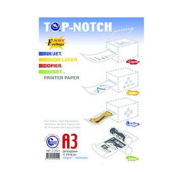 TOP-NOTCH A3高優質雙面噴墨/雷射紙100磅100張