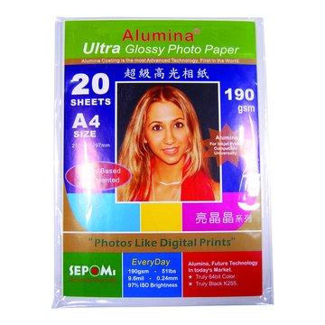 SEPOMs 西本亮晶晶190gA4超光防水相片紙