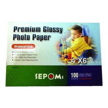 SEPOMs 西本4*6光面防水相紙100張180磅