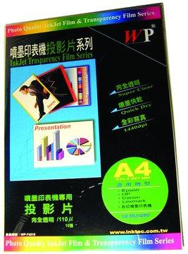 WP A4完全透明投影片10張