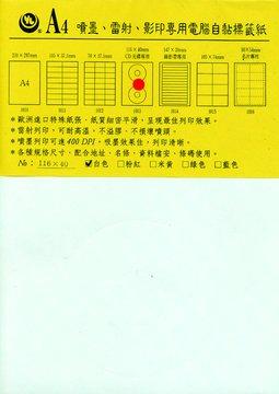 TOP-NOTCH 1013 CD(30張)自粘標籤紙