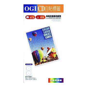 OGI 大統 CB10002光碟貼紙(內4.1mm圓)