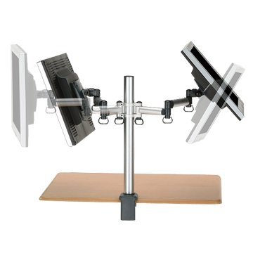 FOGIM 夾桌懸臂式液晶螢幕支架(雙螢幕)