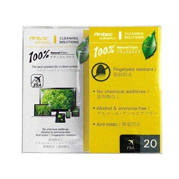 Antec 安鈦克100%天然清潔濕紙巾/20包