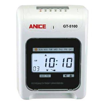 Anice GT-5100 六欄位打卡鐘(可停電打卡)