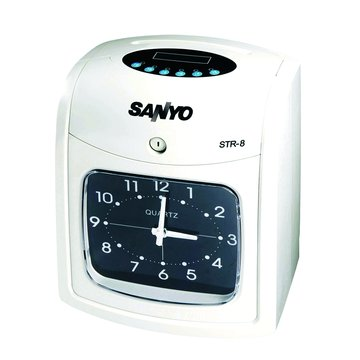 SANLUX STR-8 六欄位雙色打卡鐘