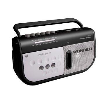 WONDER 旺德電通 RC-20 手提卡帶收錄音機