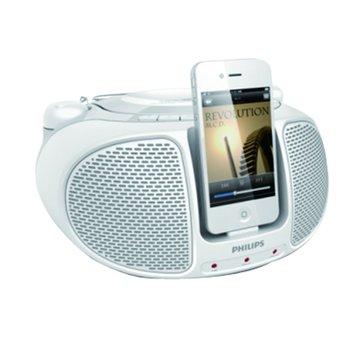 PHILIPS 飛利浦 AZD102W iPod/iPhone手提音響(福利品出清)