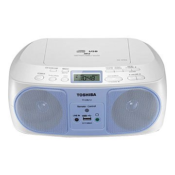 TOSHIBA 東芝TY-CRU12TW USB/CD/MP3/FM手提音響