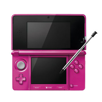 Nintendo 任天堂3DS 珠光桃紅 中文版(福利品出清)