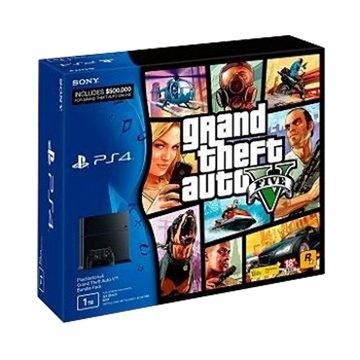 SONY 新力牌 PS4 主機(1TB黑)俠盜獵車手5中文版同捆組(福利品出清)