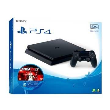 SONY 新力牌PS4主機(500G黑) NBA 2K17 主機同捆組(福利品出清)