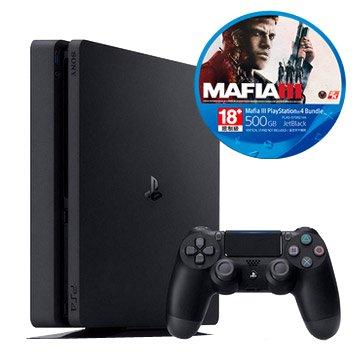 SONY 新力牌 PS4主機(500G黑) MAFIA III 同捆組(福利品出清)