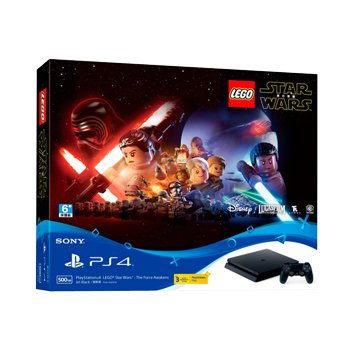 SONY 新力牌 PS4主機(500G黑) 樂高星際大戰:原力覺醒同捆組(福利品出清)