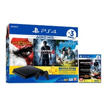 SONY 新力牌 PS4主機(500G黑) HITS Bundle 3 同捆組(福利品出清)