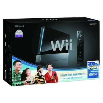 Nintendo 任天堂 WII主機黑+Resort+Remote Plus遙控器(福利品出清)