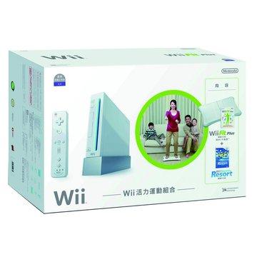 Nintendo 任天堂WII主機白-活力運動組合(福利品出清)
