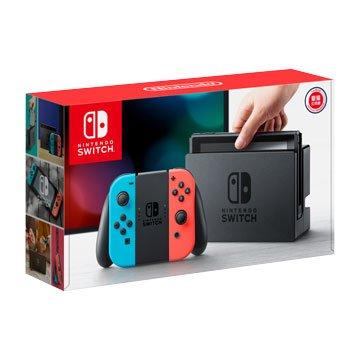Nintendo 任天堂 Switch主機-紅/藍(台灣公司貨)